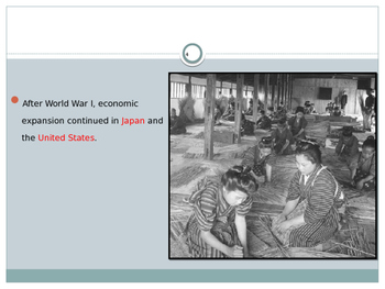 Global Aim # 82 The Economic Depression and what were its Consequences?