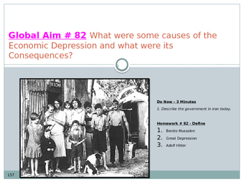 Global Aim # 82 The Economic Depression and what were its