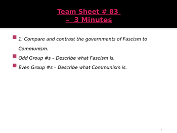 Global Aim # 83 What caused the rise of European Fascism?