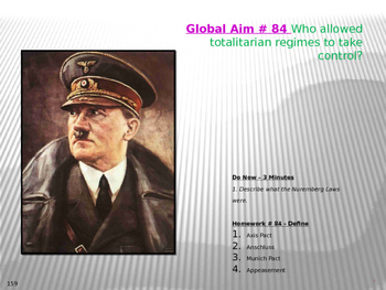 Global Aim # 84 Who allowed totalitarian regimes to take control?