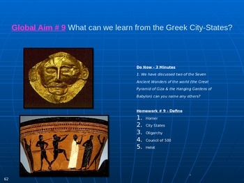 Global Aim # 9 What can we learn from the Greek City-States?