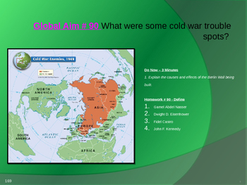 Global Aim # 90 What were some cold war trouble spots?