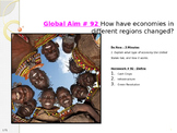 Global Aim # 92 How have economies in different regions changed?
