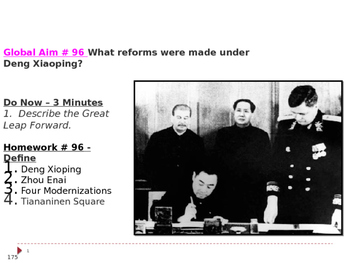 Global Aim # 96 What reforms were made under Deng Xiaoping?