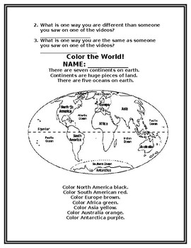 Global Awareness Packet for Second Grade