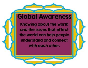 Global Awareness Posters for Kids