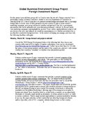 Global Business Research Project with Grading Rubric