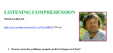 Global Challenges Environment Listening Comprehension Vide