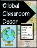 Global Classroom Decor - Banners, Posters, and Bulletin Board Letters