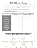Global Climate Change Graphic Organizer