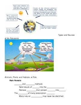 Global Climate Change Notes Outline Lesson Plan