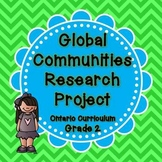 Global Communites Research Project - Grade 2 Social Studies