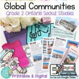 Global Communities: Grade 2 Ontario Social Studies PRINT & DIGITAL Slides
