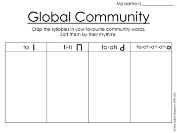 Global Communities Integrated Activity: Social Studies/Music {Differentiated}