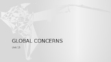 Global Concerns Then & Now Power Point