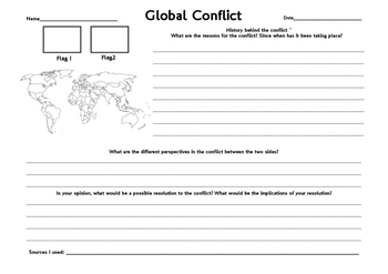 Global Conflict Inquiry Worksheet