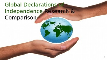 Global Declarations of Independence ppt