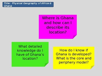 Global Development 1 - Ghana & Africa
