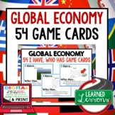 Global Economy GAME CARDS (Economics and Free Enterprise)