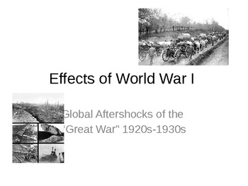 Global Effects of World War I Powerpoint