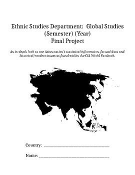Global/Ethnic Studies/Geography Summative Project