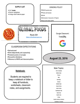 Global Foods Syllabus