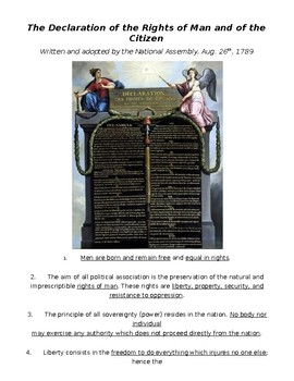 Global History - 10th Grade - Unit 22 - French/Latin American Rev's - Handout 2