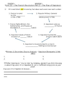 Global History - 10th Grade - Unit 22 - French/Latin American Rev's - Handout 3