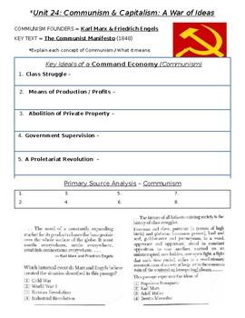 Global History - 10th Grade - Unit 24 - Capital/Commun/Nationalism - Handout 2