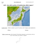 Global History - 10th Grade - Unit 26 - The Meiji Restoration - Handout 1