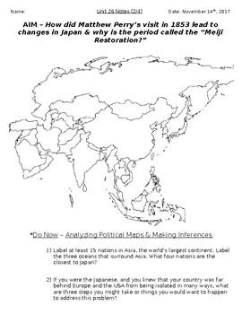 Global History - 10th Grade - Unit 26 - The Meiji Restoration - Handout 2