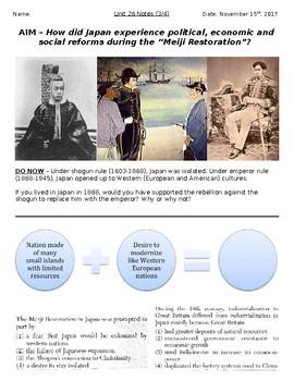 Meiji Restoration Worksheets & Teaching Resources | TpT