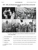 Global History - 10th Grade - Unit 28 - Russian Revolution - Handout 2