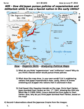 Global History 10th Grade - Unit 30 Rise of Fascism Post-WWI - Day 4 Handout