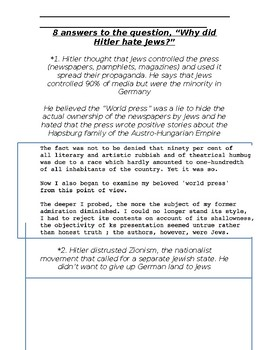 Global History - 10th Grade - Unit 30 - The Rise of Fascism - Handout 3