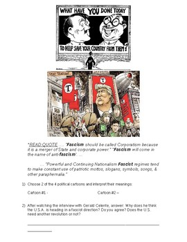 Global History - 10th Grade - Unit 30 - The Rise of Fascism - Handout 4