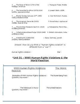 Global History - 10th Grade - Unit 31 - World War 2 - Handout 4