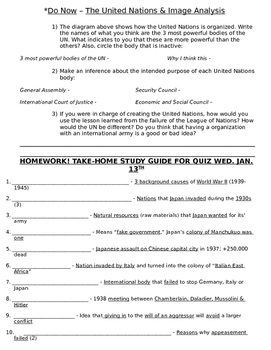 Global History 10th Grade - Unit 31 World War II in Europe/Asia - Day 5 Handout
