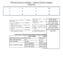 Global History - 10th Grade - Unit 32 - The Cold War - Handout 3