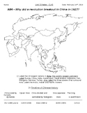 Global History - 10th Grade - Unit 33 - The Chinese Revolution - Handout 1