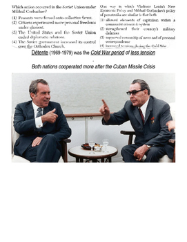 Global History 10th Grade - Unit 34 End of the Cold War - Day 1 Handout