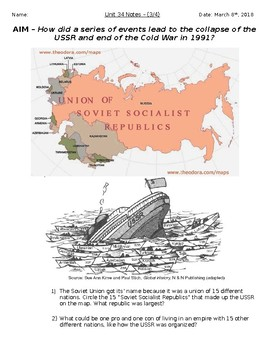 Global History - 10th Grade - Unit 34 - The Collapse of the USSR - Handout 3