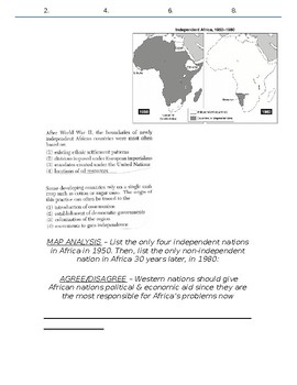 Global History - 10th Grade - Unit 35 - Colonialism to Independence - Handout 3