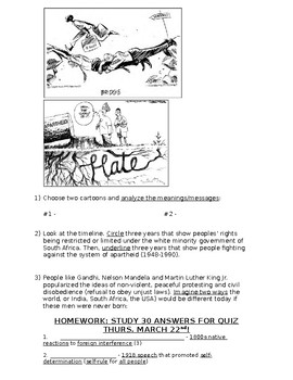 Global History - 10th Grade - Unit 35 - Colonialism to Independence - Handout 5