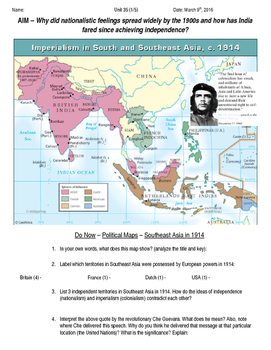 Global History 10th Grade - Unit 35 End of Imperialism - Day 1 Handout