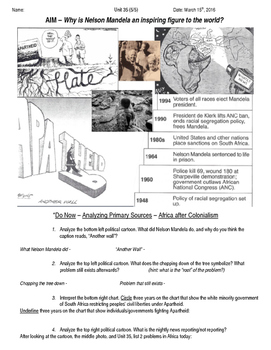 Global History 10th Grade - Unit 35 End of Imperialism - Day 5 Handout