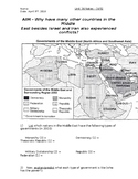 Global History - 10th Grade - Unit 36 - Conflicts in the Middle East - Handout 4