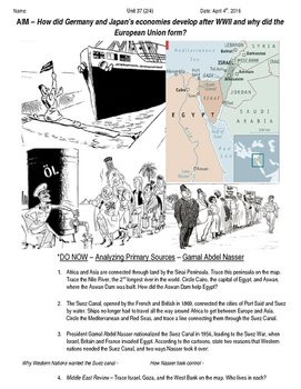 Global History 10th Grade - Unit 37 Growth of Global Economies - Day 2 Handout