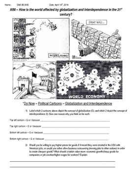 Global History 10th Grade - Unit 38 Modern Economic Issues - Day 4 Handout