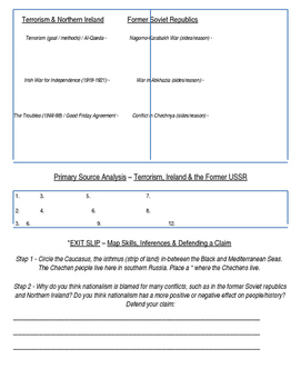 Global History 10th Grade - Unit 39 Spread of Global Conflicts - Day 1 Handout